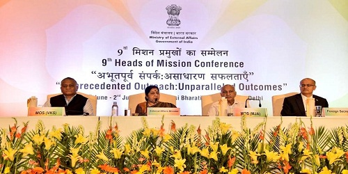 3 day long 9th Heads of Mission Conference themed 'Unprecedented Outreach:Unparalleled Outcomes' inaugurated by MEA Sushma Swaraj