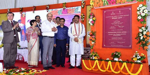 Dharmendra Pradhan lays foundation stone for NSTI at Barang, in Bhubaneswar