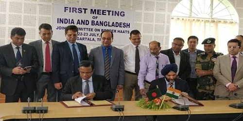 First Meeting of India-Bangladesh Joint Committee on Border HaatsHeld in Agartala