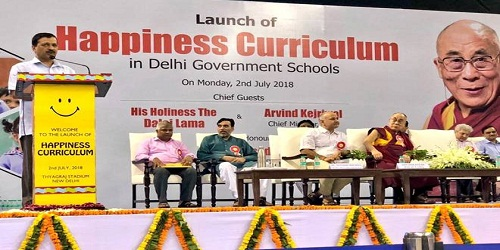 'Happiness Curriculum' for Delhi government schools launched by Delhi CM and Dalai Lama