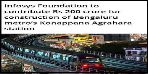 Infosys Foundation, Bangalore Metro sign MoU for construction of a station at Konappana Agrahara
