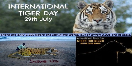 8th International Tiger day celebrated on July 29, 2018