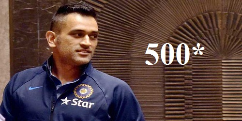Mahendra Singh Dhoni reaches coveted milestone of playing 500 international matches