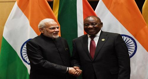 PM Modi meets S Africa Prez,
