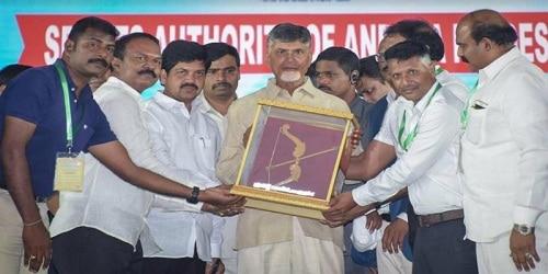 Andhra CM lays foundation stone of Amaravati International Sports Complex in Vijayawada; launches 'Project Gandiva'