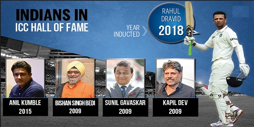 Rahul Dravid inducted into ICC Hall of Fame