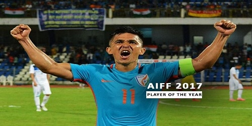 2017 AIFF Awards: Sunil Chhetri wins 2017 AIFF player of the year award