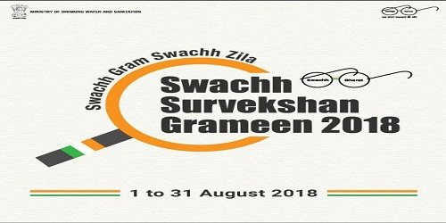 Swachh Survekshan Grameen, 2018: a nationwide survey of rural Indialaunched by the Ministry of Drinking Water and Sanitation