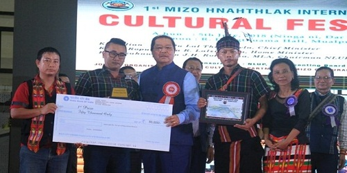 The first international festival of Mizoram-Mizo Hnahthlak celebrated in Aizawl, Mizoram