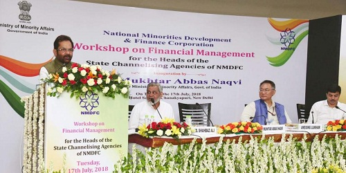Workshop on financial management in New Delhi organized by NMDFC