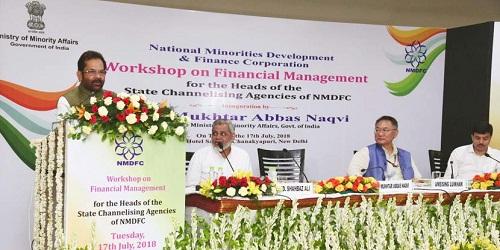 Workshop on financial management in New Delhi organized by NMDFC