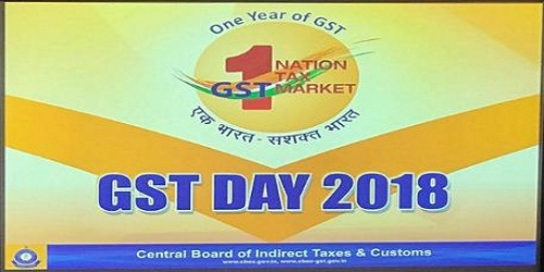 1st July 2018 celebrated as 'GST day', to commemorate the first year of the unprecedented reform of Indian taxation