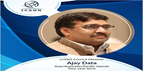 Ajay Data, first Indian to become a member of ICANN panel country code Names Supporting Organization (ccNSO)