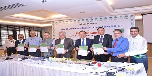 All India Financial Inclusion Survey (NAFIS) released by NABARD