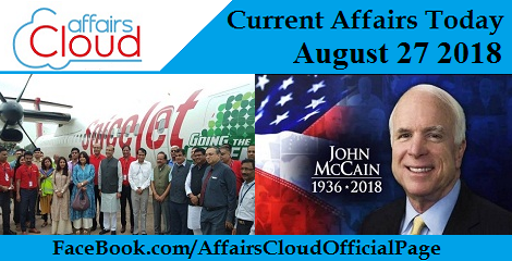 Current Affairs Today Aug 27 2018