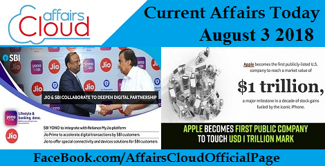 Current Affairs Today August 3 2018