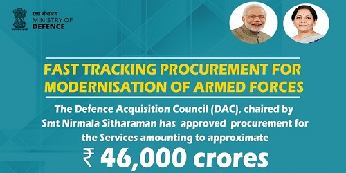DAC clears procurement proposal worth over Rs 46,000 cr for services for Indian Army and Navy