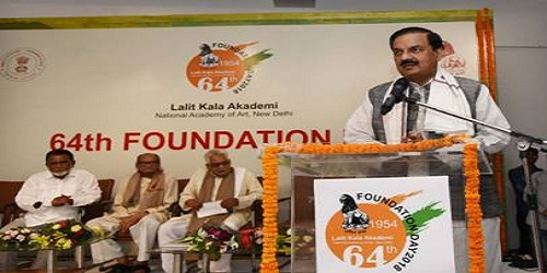 Dr. Mahesh Sharma inaugurated the 64th Foundation Day Celebrations of Lalit Kala Akademi in New Delhi
