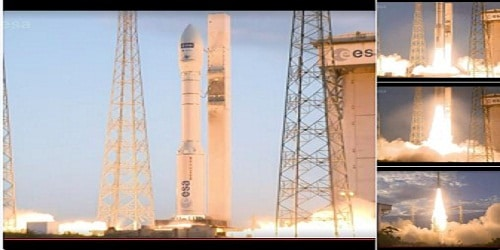 "European wind survey satellite ""Aeolus"" launched from French Guyana"