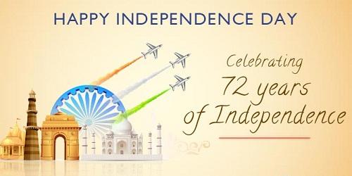 India celebrates its 72nd Independence Day