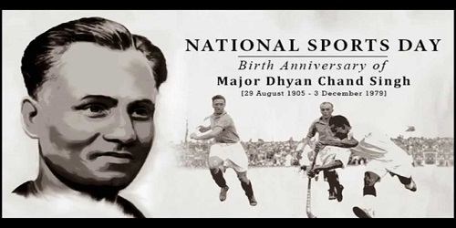 National Sports Day & Dhyan Chand's Birthday – August 29