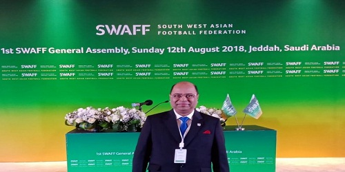 AIFF senior vice president Subrata Dutta elected as vice president of South West Asian Football Federation (SWAFF)