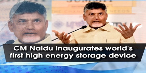 The world's first-ever high energy storage device has been built in Amaravati, Andhra Pradesh
