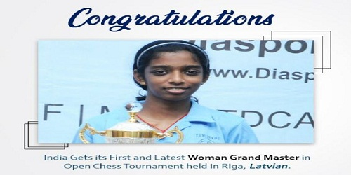 R Vaishali is now a Woman Grandmaster