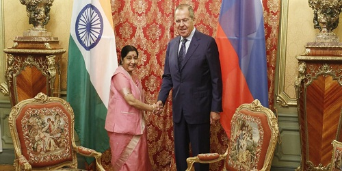 2 day visit of External Affairs Minister to Moscow