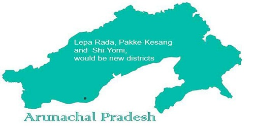 3 new districts created via passing of Arunachal Pradesh Re-Organisation of Districts (Amendment) Bill 2018