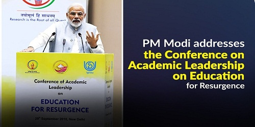 Conference on Academic Leadership on Education for Resurgence in New Delhi inaugurated by PM Modi