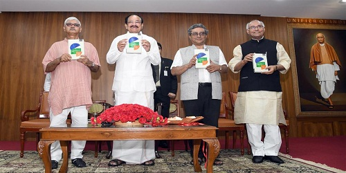 Shri M. Venkaiah Naidu, Honourable Vice President of India released the Book Constitutionalizing India: an Ideational Project, authored by Shri Bidyut Chakrabarty, in New Delhi