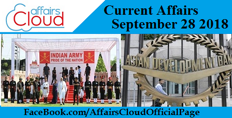 Current Affairs September 28 2018