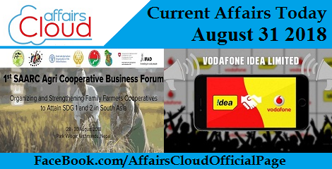 Current Affairs Today August 31 2018