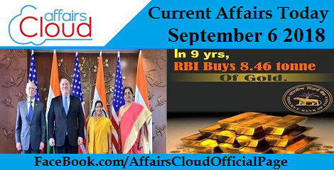 Current Affairs Today September 6 2018