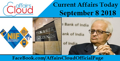 Current Affairs Today September 8 2018