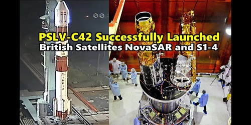 ISRO's PSLV-C-42 launched two U.K. satellites NovaSAR and S1-4