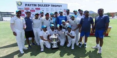 India Blue defeated India Red and won 57thDuleep Trophy