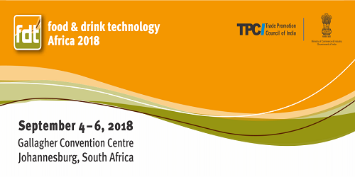 India Pavilion at Food and Drink Technology Africa Trade Show in South Africa