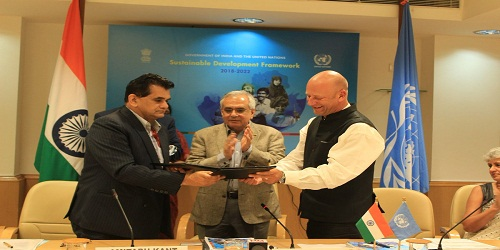 India and the United Nations signed a Five-Year Sustainable Development Framework (2018-2022)