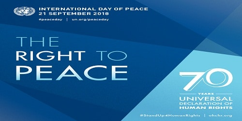International day for Peace or World Peace Day