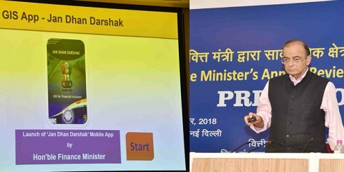 Jan Dhan Darshak a citizen-centric financial services locator app launched by Finance Ministry