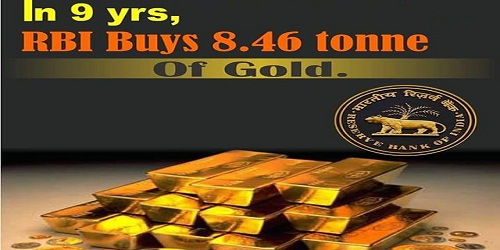 RBI bought 8.46 tonne of gold; first in 9 years