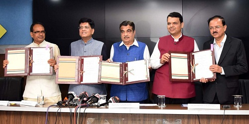 Rs 90 bn worth MoU of Indore-Manmad rail line signed by Gadkari, Goyal, MP, Maharashtra