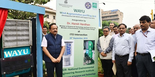 WAYU An air pollution control device inaugurated by Dr Harsh Vardhan in Delhi