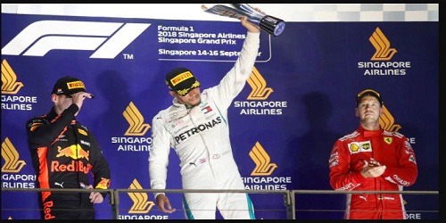 Lewis Hamilton wins Singapore Grand Prix (Formula One racing)