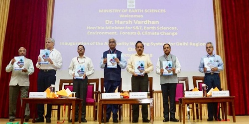 Dr. Harsh Vardhan launched Air Quality early warning system for Delhi to combat worsening air pollution