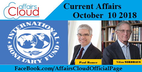 Current Affairs October 10 2018