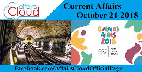 Current Affairs October 21 2018
