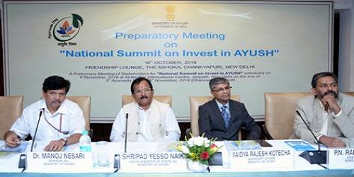 Preparatory Meeting for the First National Summit on Invest in AYUSH held in New Delhi